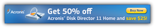 Acronis Disk Director 11 Home Coupon Code $25 Discount