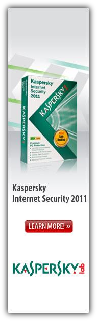 Kaspersky Internet Security 2011 Coupon Code 20% Discount